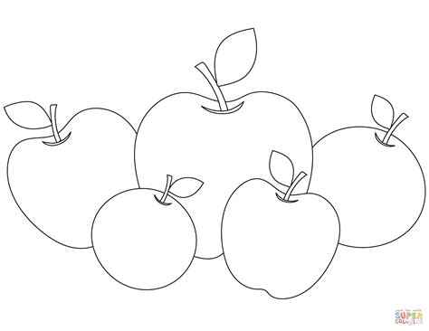 printable apple coloring page coloring pages free printable apple cut coloring best