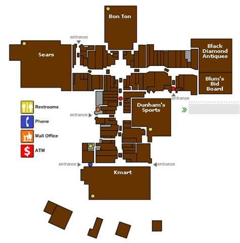 Room Area map for schuylkill mall map frackville pa 17931