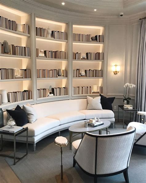 beautiful library space home interior bookshelves