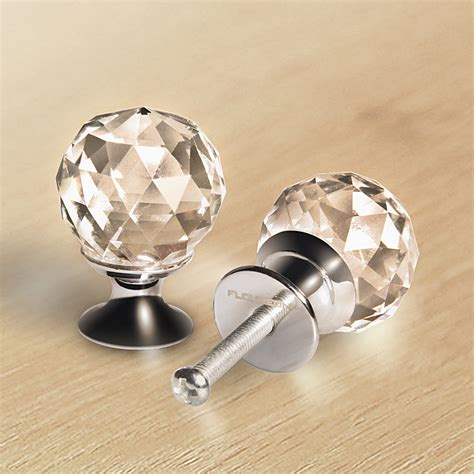 clear kitchen cabinet knobs 8 x 25mm silver clear crystal glass kitchen cabinet door