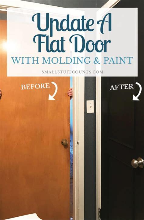 diy closet door update how to update your old bi fold a diy door tutorial to update a flat door with trim paint