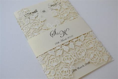 ivory wedding invitation paper laser cut wedding invitations ivory laser cut wedding