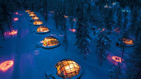 go glacier gling in a glass igloo view the northern