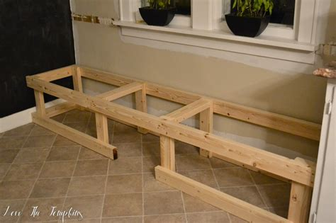 building a built in bench diy built in bench breakfast nook love the tompkins