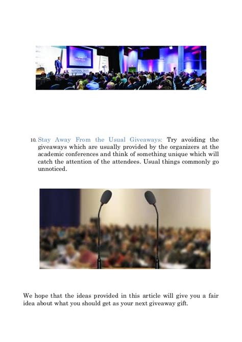 themes for education conferences what are some ideas for giveaways at an educational conference