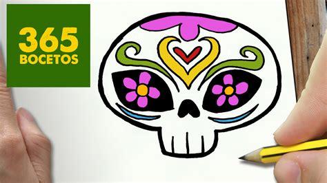 imagenes de calaveras faciles como dibujar catrina kawaii paso a paso dibujos kawaii