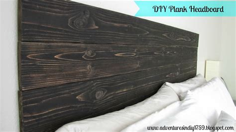 wood plank headboard adventures in diy plank headboard
