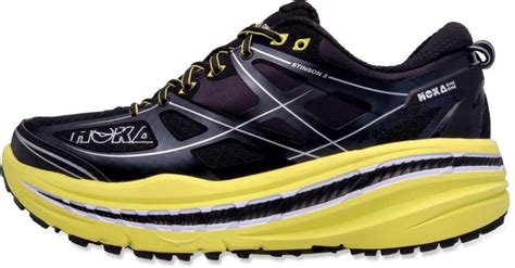 hoka running shoe reviews hoka one one stinson 3 atr trail running shoes s