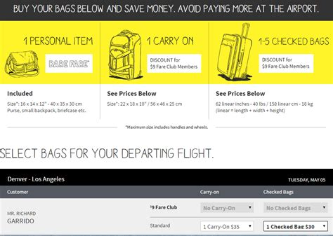 carry on fee spirit airlines los angeles denver 87 to 97 loyalty