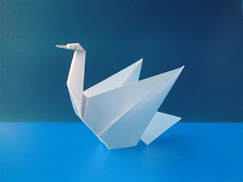 Folding Paper Swan - template origami swan honestly i think i would use this