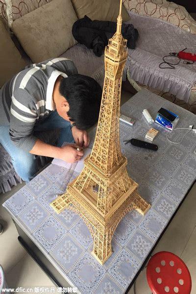 Oleh Oleh Pajangan Replika Dari Amerika 1 demi pacar pria ini bangun menara eiffel dari bambu