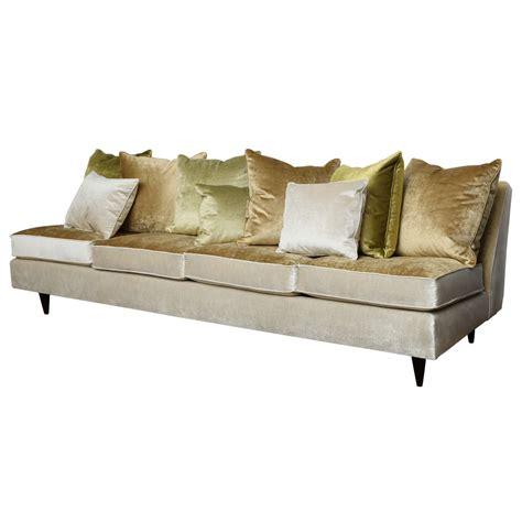 slipper sofa slipper sofa custom velvet slipper sofa at 1stdibs thesofa