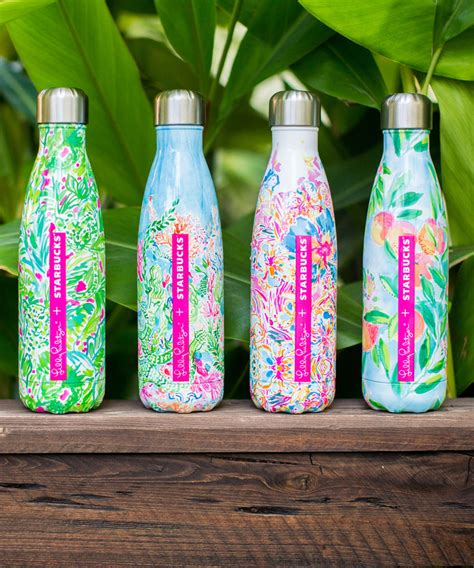 lilly starbucks shop the new lilly pulitzer water bottle for s well at