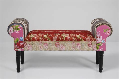 i love benches vintage style patchwork bench by i love retro