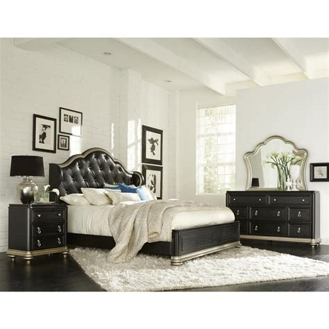 king single bedroom packages modern upholstered king bed tufted bed glam modern