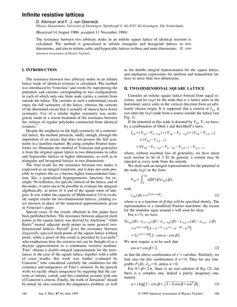 infinite resistor lattice infinite lattice resistors 28 images simon guest lattice structures lattice runner