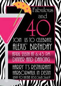 pictures of stylish for 40th birthday invitation free printable 40th birthday