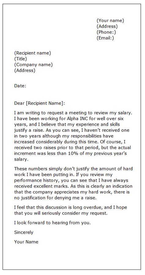raise request template 15 application letter format salary increment