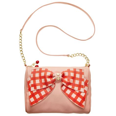 Betsey Johnson Bosy by Betsey Johnson Macys Exclusive Bow Crossbody In Pink