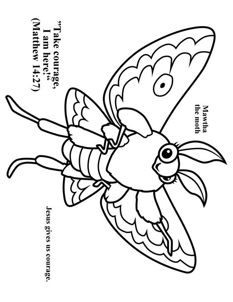 cave art coloring page cave quest day 2 preschool coloring page mawtha the moth