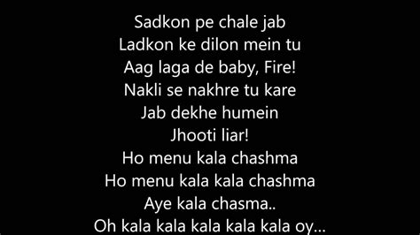 youtube music free song lyrics kala chashma full song with lyrics youtube