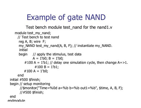 test bench in verilog exles verilog tutorial