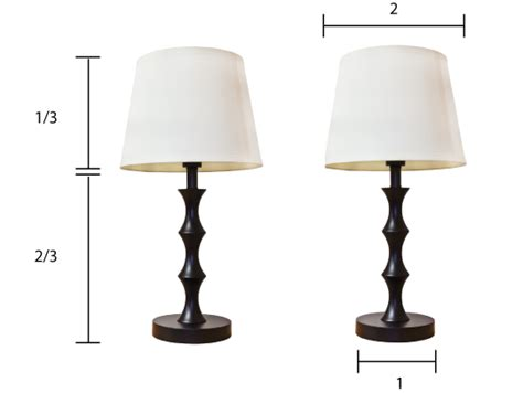 What Size Lamp Shade by How To Choose The Right Size Lamp Shade Apartment