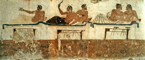 banchetto etrusco a tavola con gli eroi mito greco panoram italia