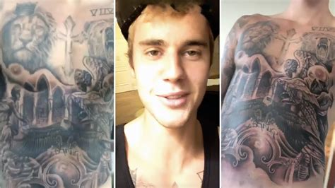 full body tattoo removal justin bieber reveals his full body tattoo collection