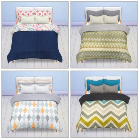 saudade sims stockholm bed 20 recolors of the blanket and