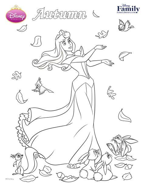 Disney Autumn Coloring Pages