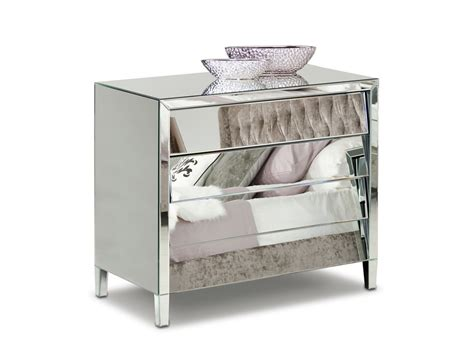 roanoke modern mirrored bedroom furniture dresser