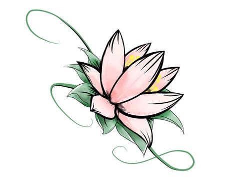 lotus flower tattoo designs free simple lotus flower drawing clipart best