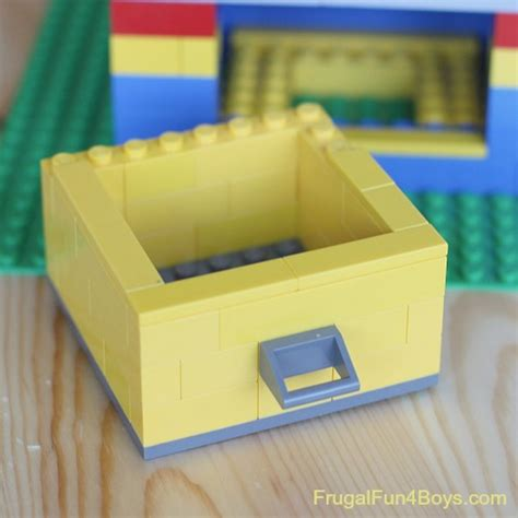 Lego Desk Organizer Build A Lego Desk Organizer With Working Drawers Frugal For Boys And