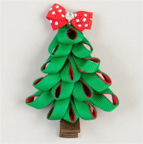 diy christmas bows for trees hair bows ideas for more