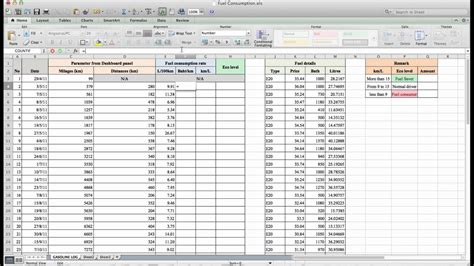 calculate fuel consumption   microsoft excel youtube