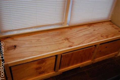 building a window bench seat with storage diy window bench seat with drawer storage hometalk