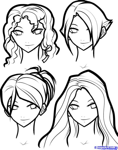 girl hairstyles drawing how to draw hair for girls step by step hair people