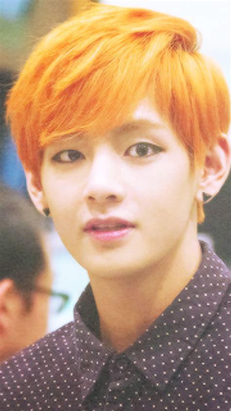 kim taehyung orange hair bts wallpapers taehyung orange hair wallpapers please