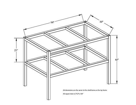 plan fabrication table welding table plans 3x5 heavy duty wing steel works