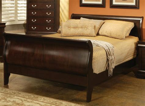 Louis Philippe Sleigh Bed Coaster Louis Philippe Cappuccino Sleigh Bedroom Set 203981 Bed Set At Homelement