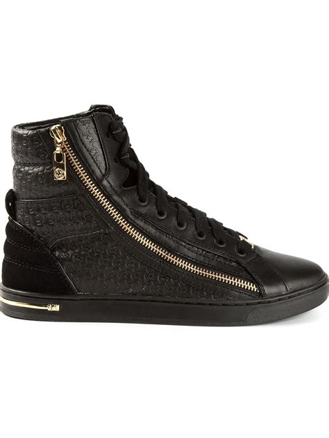 black michael kors sneakers michael michael kors essex sneakers in black lyst