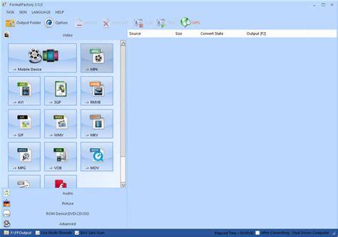 format factory moi nhat phần mềm đổi đu 244 i video miễn ph 237 format factory 3 7 0
