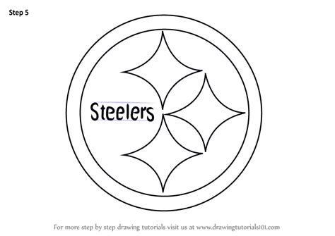 pics photos pittsburgh steelers coloring pages online learn how to draw pittsburgh steelers logo nfl step by