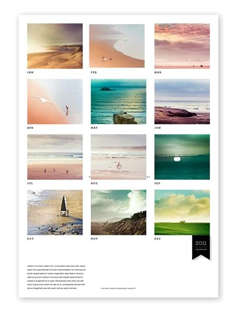 Calendar Indesign Template indesign template calender calendar template 2016