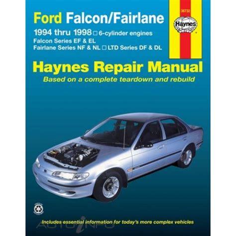 auto repair manual online 1966 ford falcon security system haynes manual ford falcon fairlane ltd 1994 1998 36732