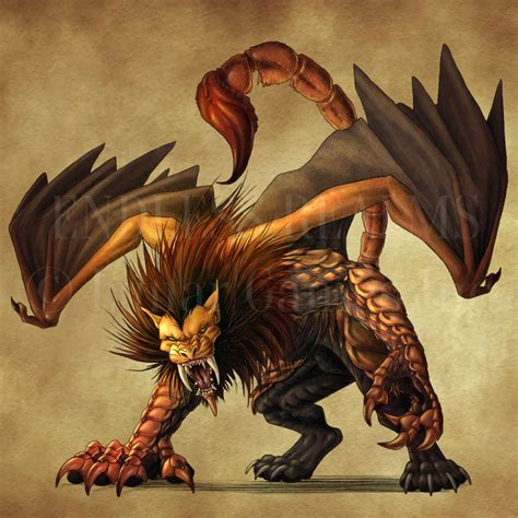 endless realms bestiary manticore by jocarra on deviantart