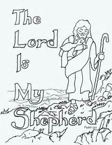 free coloring pages of jesus is my shepherd