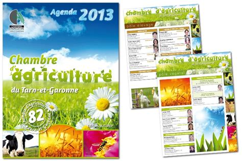 cr 233 ation graphique agenda chambre d agriculture 82