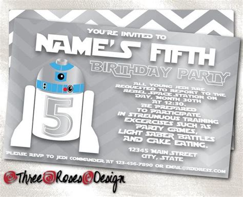 R2d2 Birthday Card Print It Yourself Or Add Print Package Star Wars R2d2